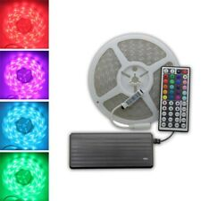 Continuous 1-20M RGB 5050 SMD LED Strip Light Flexible Waterproof + 12V Power