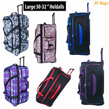 "New XL Lightweight 30"" Wheeled Trolley Holdall Travel Holiday Luggage Bag - 90L"