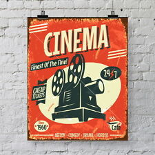 Vintage CINEMA poster art print - Great wall decor for your home movie theater