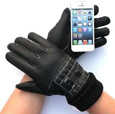 2014 New Mens Warm Leather Easy Click Touch Screen Gloves SmartPhone gloves
