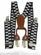 Toddler Checkered Flag Suspenders Ages 2 - 5 Years - 2T 3T 4T 5T
