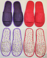 MULE STYLE SLIPPERS TRAVEL SLIPPERS PAIR - BATH SPA HOTEL FLIGHT HOUSE LOUNGE