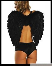 """65CM 26"""" Sexy Game Props Costumes White Black Angel Feather Wings Adult & Kids"""