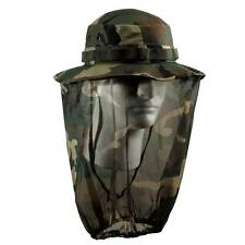 Rothco Mens Military Hat, Boonie Hat With Mosquito Netting, Woodland Camo