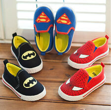 Kids boys Girls Children Fresh Canvas Casual Slip on Cartoon Shoes Single shoes
