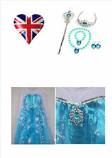 Princess Elsa Disney Inspired Frozen Dress Fancy Dress Girls Dress Up Outfit