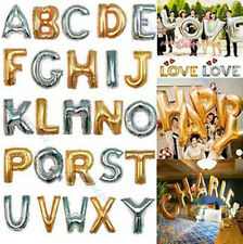 "16"" Foil Ballon Letter A-Z Number 0-9 Party Birthday Wedding Decoration Supplies"