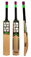 SS TON KS84 Red Players Grade English Willow Cricket Bat Free Ship & $50 Extras