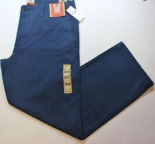 "Men Dockers D2 Straight Fit ""Off The Clock"" Khaki Smoked Blue Cotton Pants- $58"