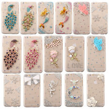 For iPhone 4 4s 5 5s 6 Plus Huawei Ascend P7 S5 Handmade Diamond Back Case Cover