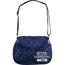 Littlearth Quilted Saddlebag - NFL Teams 8 Colors Faux Leather Bag NEW