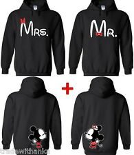 Couple Hoodie Mr and Mrs Cartoon Kissing Matching Couple Sweatshirt cartoon love