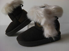 Infant Girl FIRST WALKER  fur lined SNUG boots with Flexi TRP SOLE - CHOCOLATE