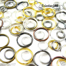 4,5,6,7,8,10 mm Metal Double Loop Split Jump Ring Open Jump Rings (EVIESTAR LTD)