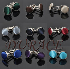 New Design Men's Multicolor Flannel Gifts  Smooth Round Elegant Alloy Cuff Links