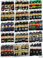 12 Or 6 Pairs New Mens Designer Cotton Rich Diamond Argyl Stripe Socks Size 6-11