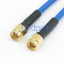SMA Plug Male to Male RF Coax RG402 LOW LOSS Semi Flexible blue Cable 3G 4G Lot