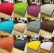 Very Thick 5cm High Long Plain Shaggy Shag Pile Modern Rugs Mats Carpet Cheap