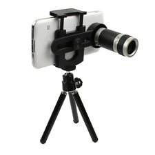 Universal 8x Zoom Optical Camera Lens Telescope + Mount Holder For Mobile Phone