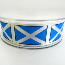 1x metre St Andrews scottish flag ribbon beresfords 25mm & 35mm blue/white