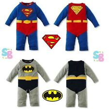 NEW BABY TODDLER BOYS BIRTHDAY PARTY OUTFITS SETS FANCY DRESS UP BATMAN COSTUMES
