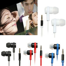 3.5mm In-Ear Earphone Headphone Headset Flat Cable For MP3 MP4 iPhone iPod PSP