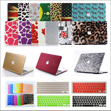 "2in1 Pattern Matte Hard Case Keyboard Cover for MacBook AIR 11""/ PRO13 15 Retina"