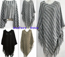 New Women Exotic Style Batwing Poncho Fall/Winter Cape Sweater Top Cardigan Coat