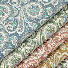 FQ - VINTAGE PAISLEY & FLOWER RETRO PRINT 100% Cotton Fabric Dress Quilting VK46