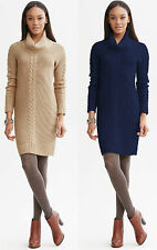 Brand NEW Banana Republic Women's  Cable-knit Cowl Sweater Dress Size XL