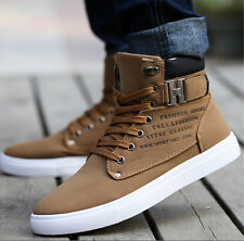 2015 Hot Men Shoes Fashion Leather Shoe Casual High Top Shoes Canvas Sneakers