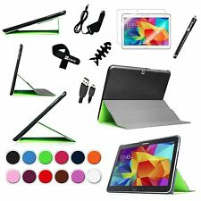 Smart Book Slim Stand Cover Case Bundles for Samsung Galaxy Tab 4 10.1 SM-T530