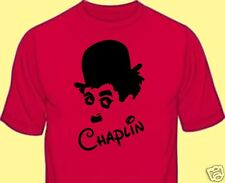 T-Shirt, Vintage Classical Silent Movies, Comedy, Chaplin, Red, Gildan Cotton