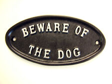 BEWARE OF THE DOG SIGN PLAQUE