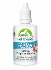 NATURAL PET REMEDY CALM FIREWORKS FEAR ANXIETY NERVOUS Dog Cat Horse Relax Blend