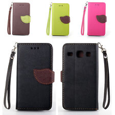 PU Leather Magnetic Flip Wallet Case Cover For Samsung Galaxy Core I8260 I8262