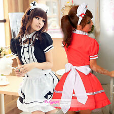 Sexy Princess Cosplay Plus size L,XL French Maid Halloween Costumes Pretty Dress