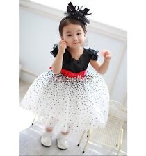 Girls' Dotted Princess Tutu Dress For Party Short Sleeve 20117