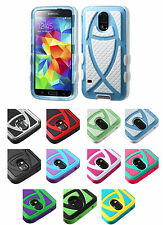 for Samsung Galaxy S5 SV Hybrid Christian Fish Cell Phone Case Cover Accessory