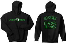BMX CUSTOM NUMBER PLATE HOODIE SWEAT SHIRT JUMPER MX RACE BIKE BICYCLE JUST RIDE