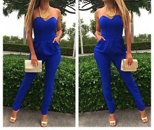 Bodycon Bandage Strap Tight Waist Jumpsuits Romper Women Exposed Party Dress