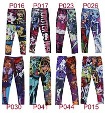 Girl's Monster High Pants Tights 3-8Y 1PCS