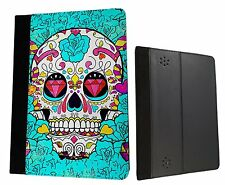 Sugar Skull Skulls Multi cool Kindle Fire Hd 7'' HDX 7'' Case Leather Flip cover