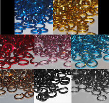 """SQUARE 16g 3/8"""" ID Anodized Aluminum JUMP RINGS ALL COLORS chainmail chain mail"""