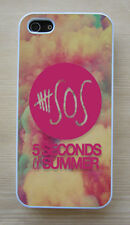 5 SOS 5 Seconds Of Summer Cotton Candy Clouds Snap on Case for iPhone/Samsung