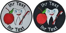 dentist patch with your text 8cm embroidered logo (732-1)