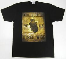 STREETWISE TOP RANK T-shirt Boxing Poster Tee Adult L,XL,2XL,3XL,4XL Black NWT