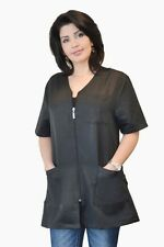Stylist Zipper Jacket Black for Stylists, Esthetician, Nail techs & Pet Groomers