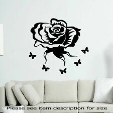Rose Flower Wall Stickers Wall Art Living Room Wall Decals Vinyl Removable Decal