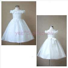 New Ivory Flower Girl Wedding Bridesmaid Pageant Party Formal Dress Age 12M - 8y